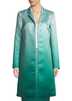 Escada Eve Open-Front Ombre Duchess Satin Topper Coat
