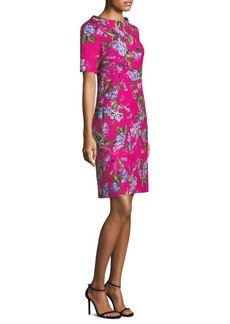 Escada Floral Jacquard Sheath Dress