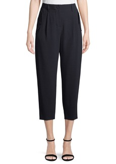 Escada High-Waist Crepe Crop Pants