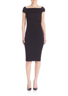 Escada Jersey Off-The-Shoulder Dress
