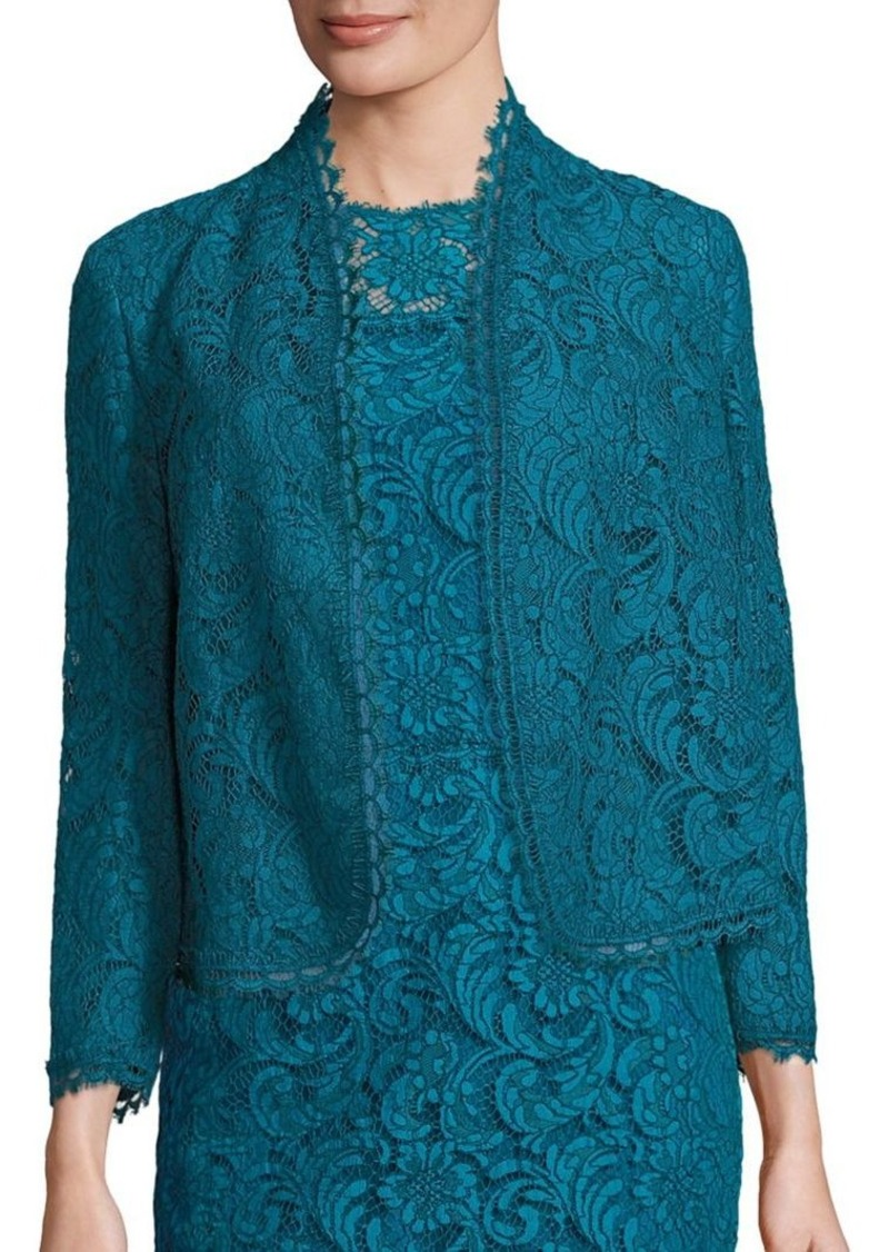 Escada Lace Open Front Jacket