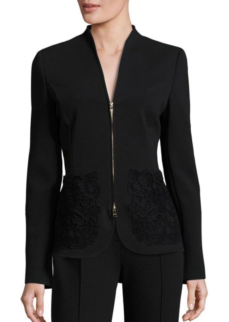 Escada Lace Zip Front Jacket