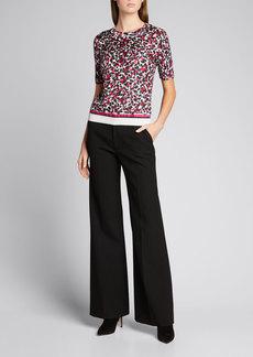 Escada Leopard-Print Wool-Silk Pullover