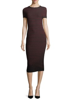 Escada Lurex Ottoman-Knit Bodycon Midi Dress