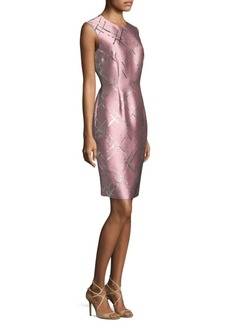 Escada Metallic Jacquard Dress