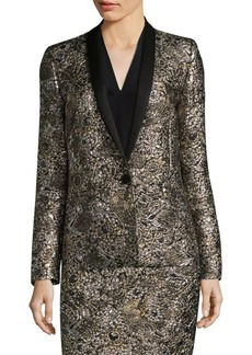 Escada Metallic Jacquard Jacket