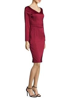 Escada Satin Sheath Dress