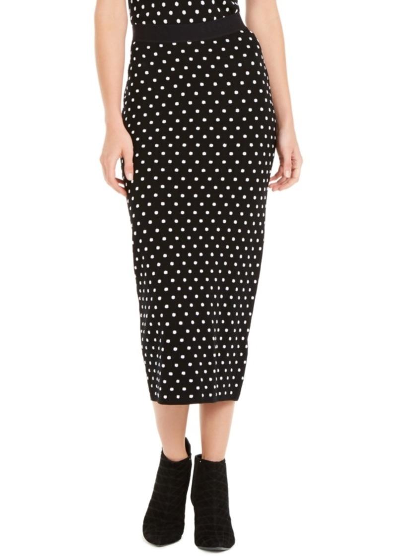 Escada Sport Polka Dot Knit Maxi Skirt