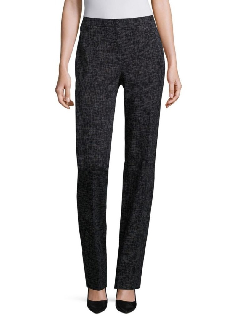 Escada Printed Cotton-Blend Pants