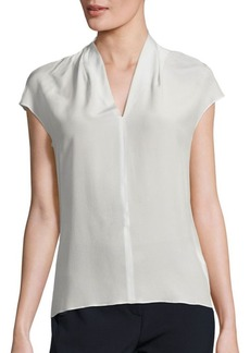 Escada Silk Cap-Sleeve Blouse