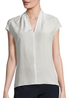 Escada Silk Cap-Sleeve Blouse