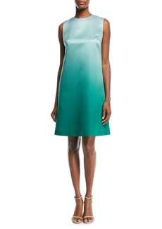 Escada Sleeveless Ombré Duchess Satin A-Line Dress