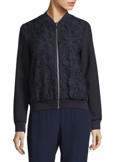 Escada Bencaje Zip-Front Jacket