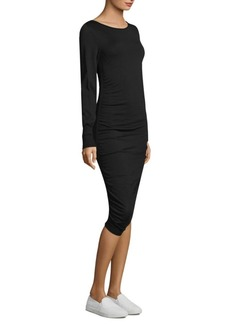Escada Bishop-Sleeves Bodycon Dress