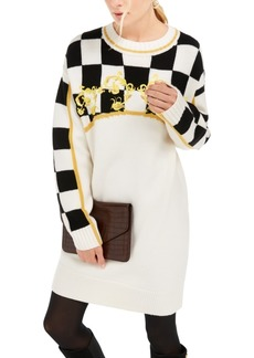 Escada Sport Checkered Sweater Dress