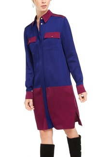 Escada Sport Colorblocked Pocket Shirtdress