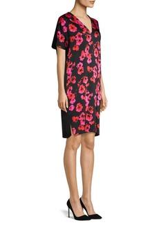 Escada Dafleur Floral Tunic Dress