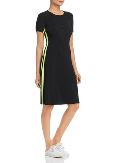 Escada Sport Damouel Ribbed Side-Stripe Dress
