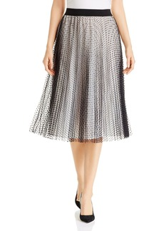 Escada Sport Dotted & Pleated Skirt