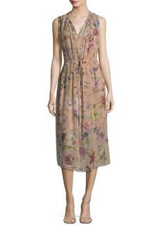 Escada Floral Silk Dress