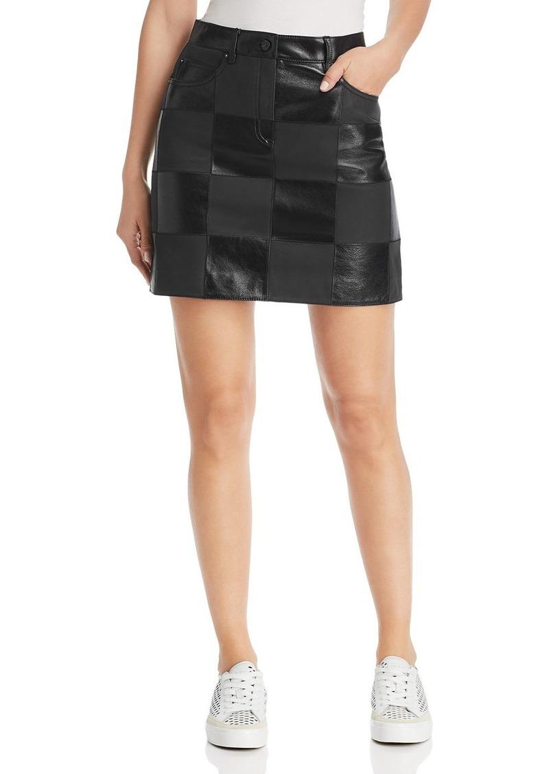 Escada Sport Lalla Checkered Leather Mini Skirt