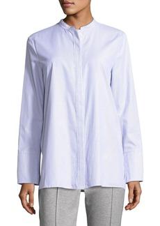 Escada Long-Sleeve Striped Poplin Shirt