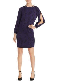 Escada Sport Printed Split-Sleeve Dress
