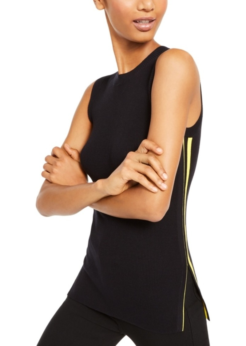 Escada Sport Sleeveless Racer-Stripe Knit Top