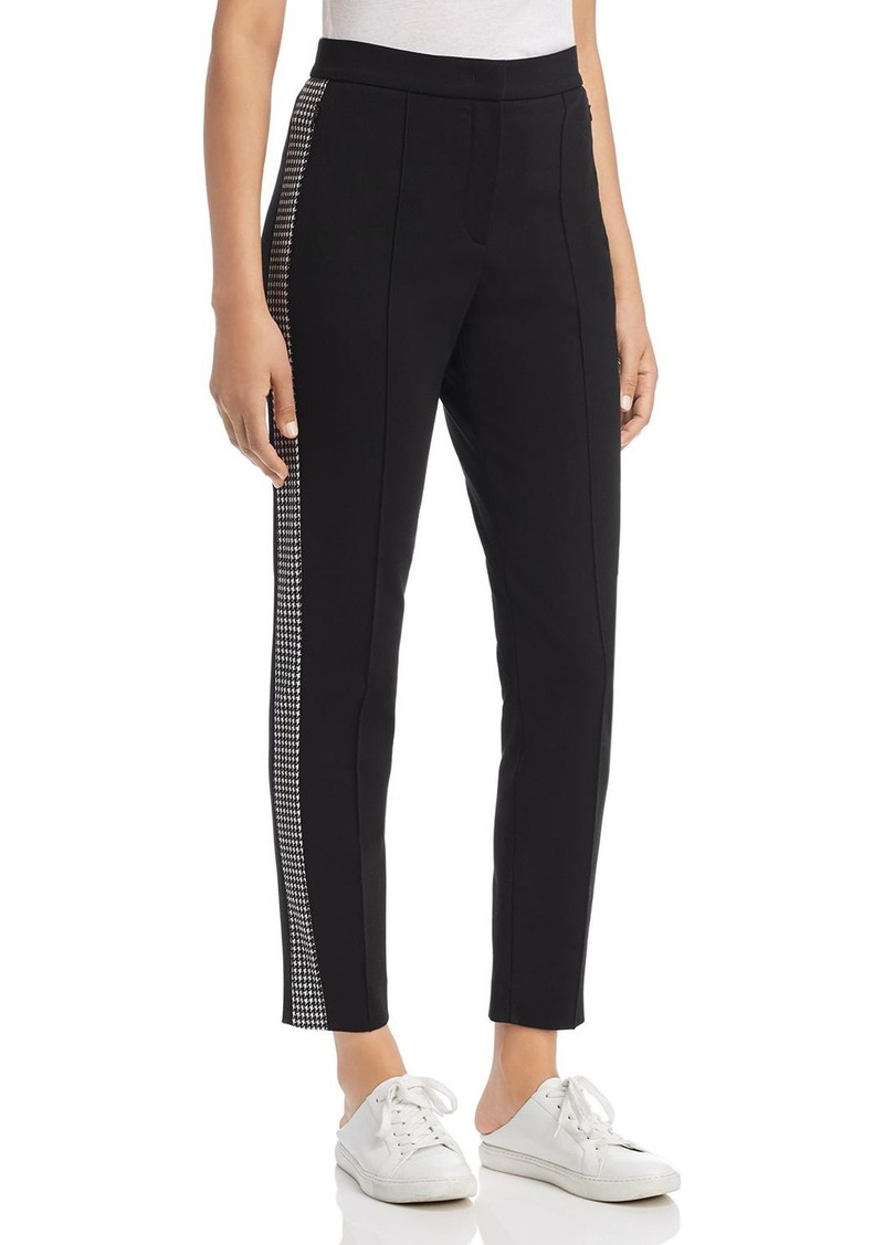 Escada Sport Tamianne Houndstooth-Trim Pants