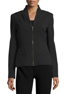 Escada Stand-Collar Zip-Front Jacket