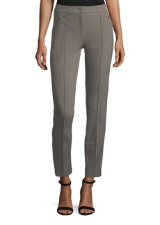 Escada Straight-Leg Techno Ankle Pants