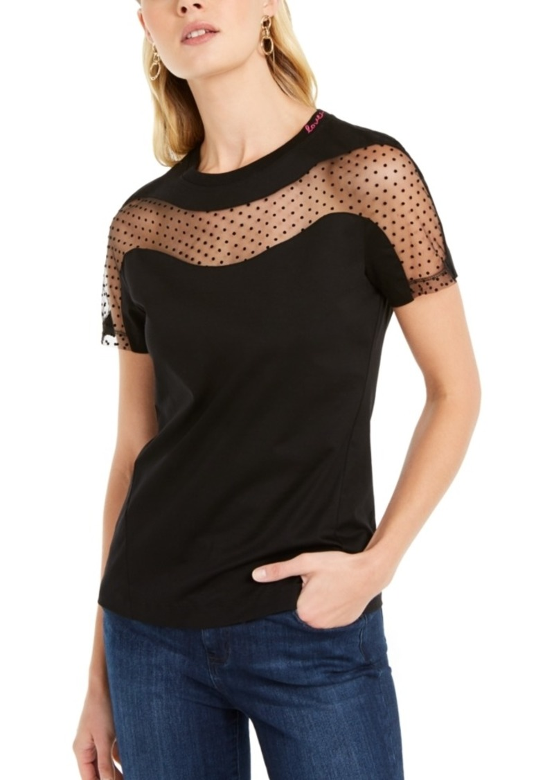 Escada Sport Swiss-Dot Sweetheart Top