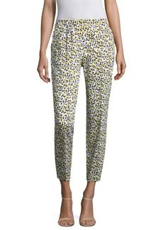 Escada Talaranto Lemon-Print Pants