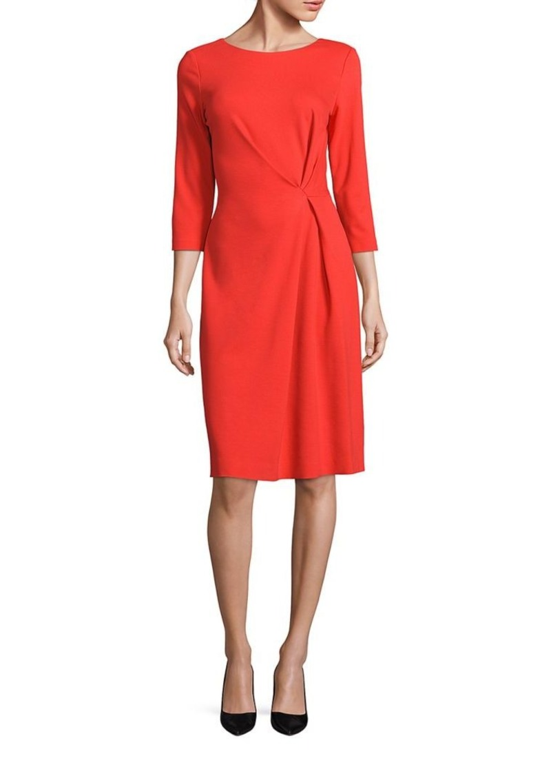 Escada Three-Quarter Sleeve Jersey Dress