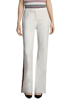 Escada Tschena Side Striped Wide-Leg Pants