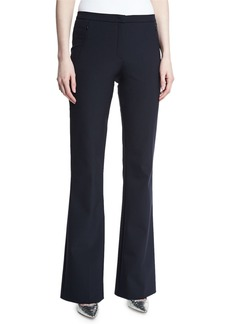 Escada Tulira Techno Boot-Cut Pants