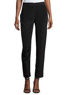 Escada Tullule Crystal-Embellished Silk Ankle Pants
