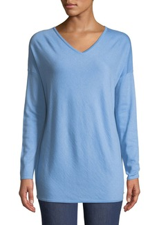 Escada V-Neck Long-Sleeve Cashmere Tunic
