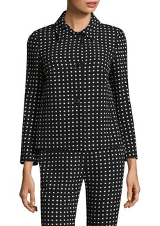 Escada Wool Square-Print Jacket