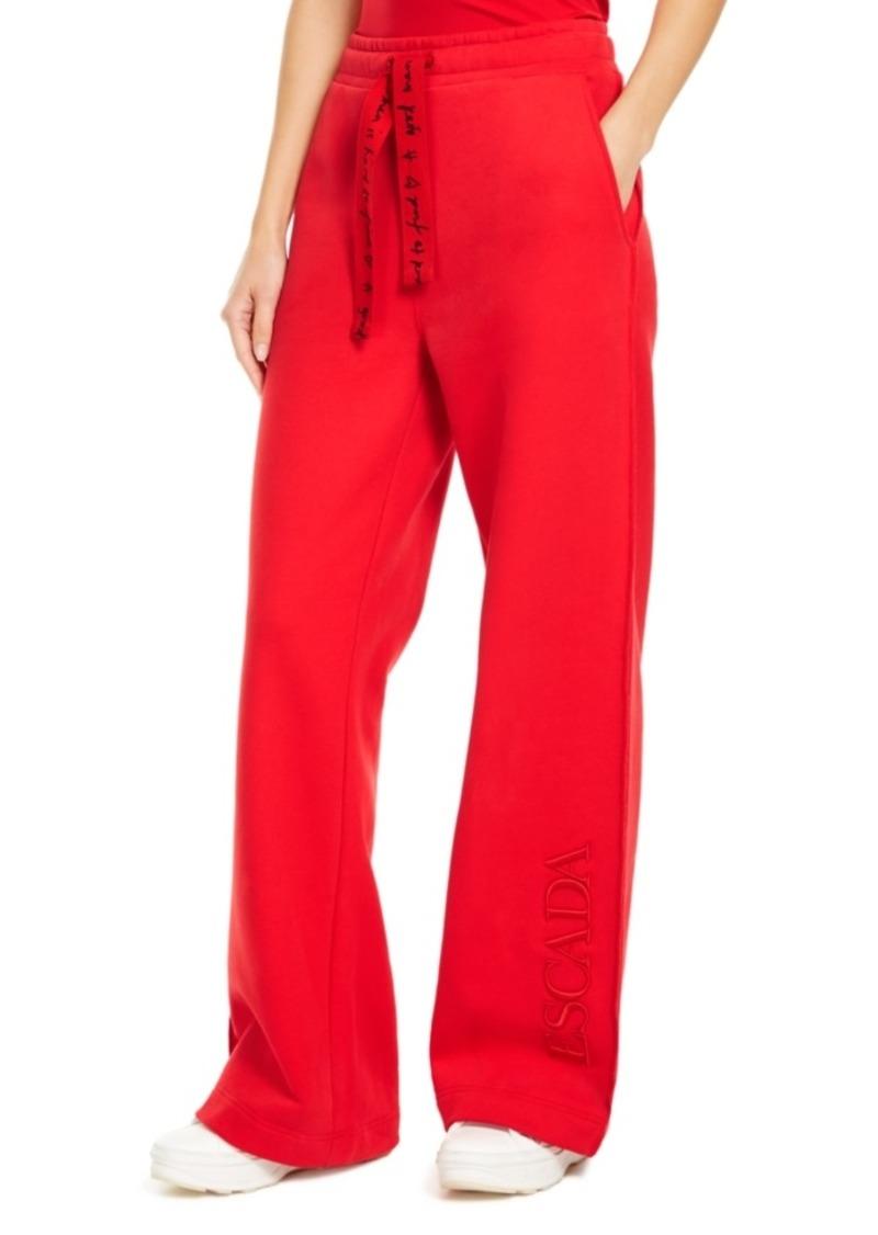 Escada x Rita Ora Cotton Wide-Leg Trousers