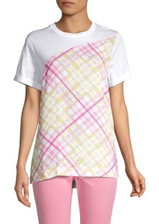 Escada Evalka Multicolor Plaid Tee