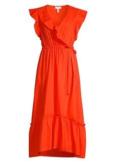 Escada Faux Wrap Ruffle Dress