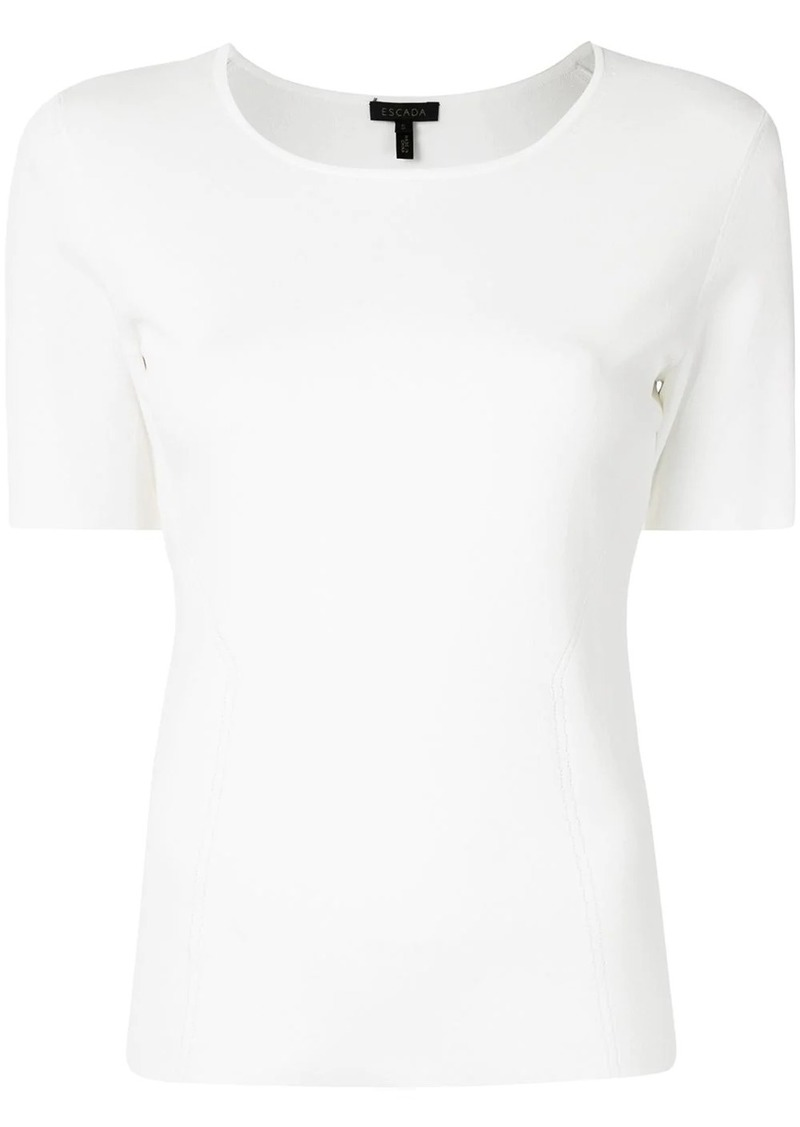 Escada fitted round-neck top