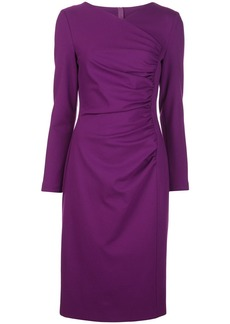 Escada fitted ruched-detail dress