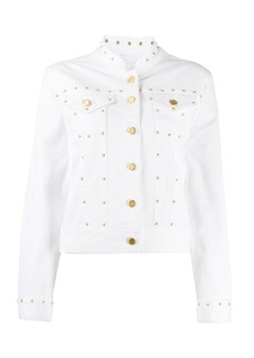 Escada fitted stud-embellished jacket