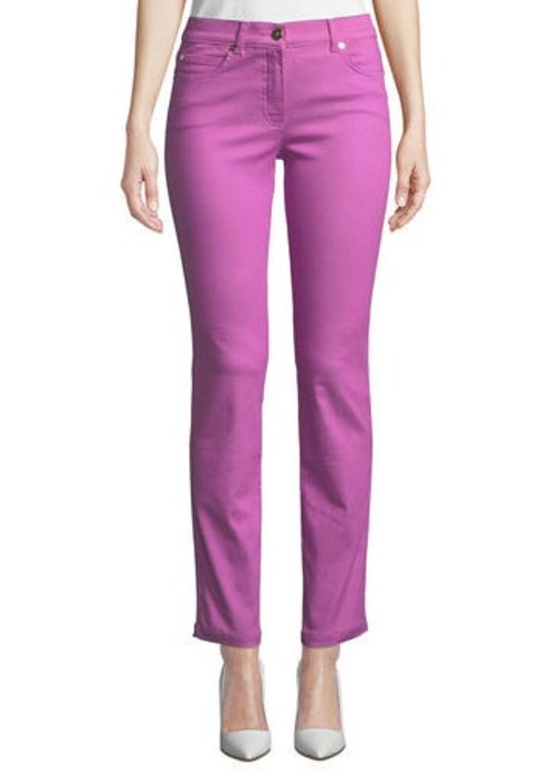 Escada Five-Pocket Narrow Straight-Leg Jeans