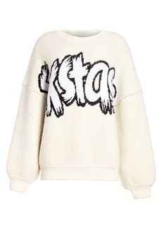 Escada Fleece Logo Pullover Sweater