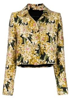 Escada floral brocade cropped jacket