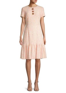 Escada Floral Cotton Blend A-Line Dress