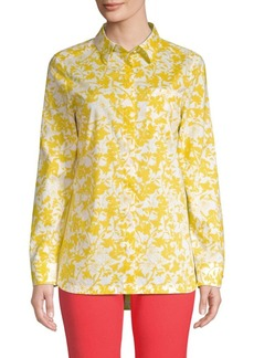 Escada Floral Cotton Blouse